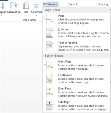 how to remove section breaks how to add and remove section breaks in word 2013