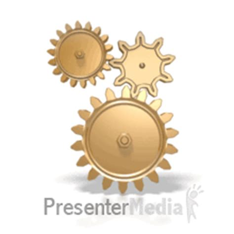 Group Of Three Gears Anim Animated Gears Powerpoint
