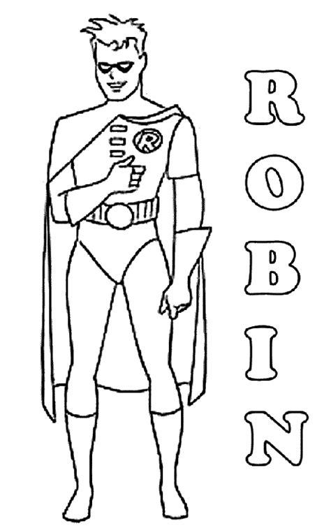 robin superhero coloring page coloriage a imprimer batman robin gratuit et colorier