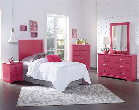 pink bed pink children s bedroom furniture true pink bedroom set american freight
