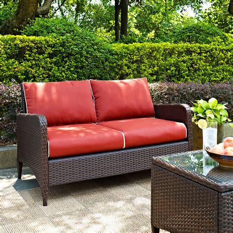 corona patio furniture corona outdoor loveseat sangria american signature furniture