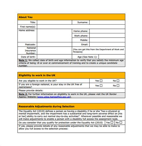 service application sle service application form 10 free documents in pdf word