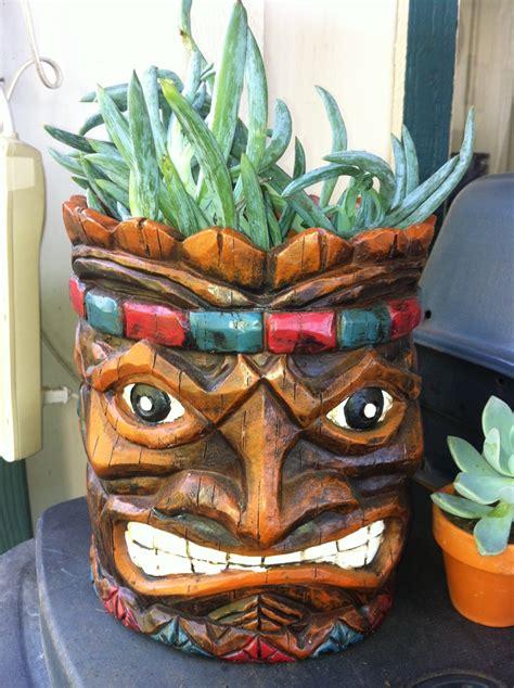 Tiki Torch Planter by Tiki Planter From Big Lots 16 99 Decor Voor Tiki