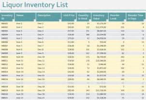 Liquor Inventory Template by Liquor Inventory Sheet Liquor Inventory Spreadsheet