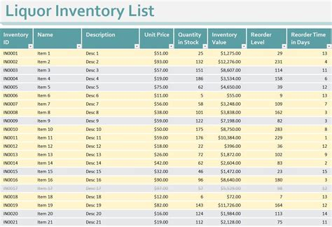 Inventory Templates Free Inventory Templates Free Liquor Inventory Template