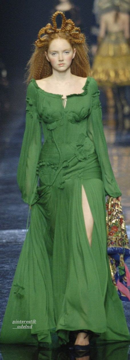 Shades Of Green Jean Paul Gaultier Autumn Winter 2005 Couture Jean