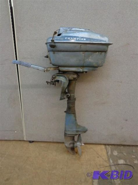 blue motor chion outboard boat motor blue r auctions