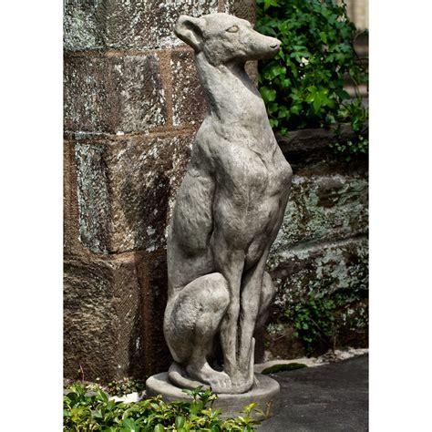 campania international antique greyhound garden statue