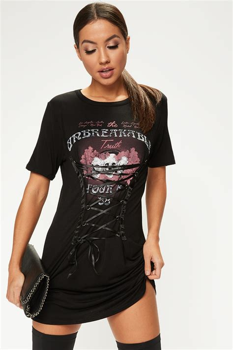 Wst 8969 Black Lace Cut Back Dress leyla black lace front t shirt dress