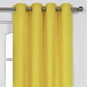 Value yellow eyelet panel curtain