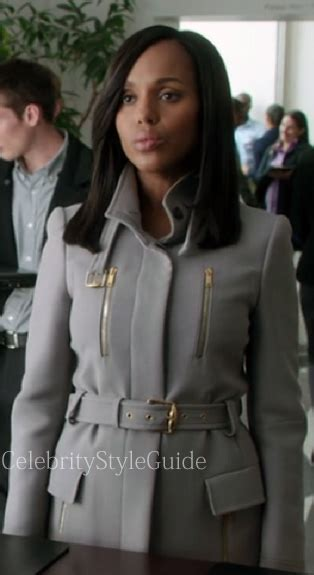 Pope Wardrobe Grey Coat by On Style Guide