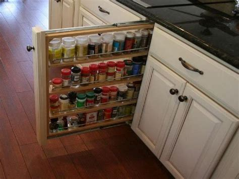Narrow Pull Out Spice Rack Kitchen Inspiration Pull Out Spice Racks For Cabinets