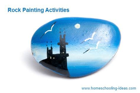 Make Your Home Beautiful rock painting for kids