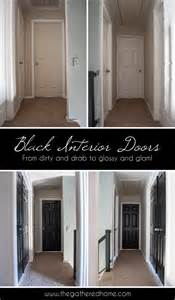 Black interior doors the gathered home
