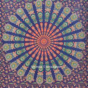 colorful tapestry small blue colorful mandala wall tapestry indian mandala