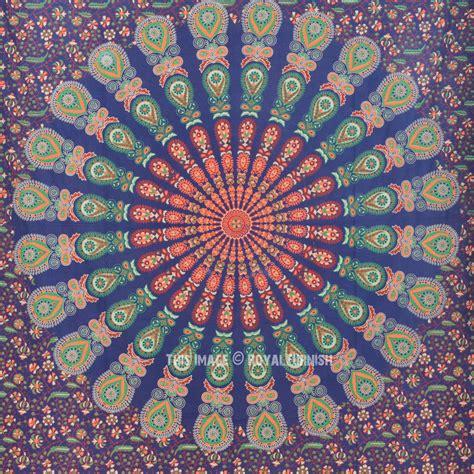 colorful tapestry small blue colorful mandala wall tapestry indian mandala