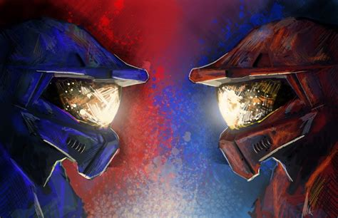 wallpaper red vs blue red vs blue halo hd wallpapers desktop and mobile