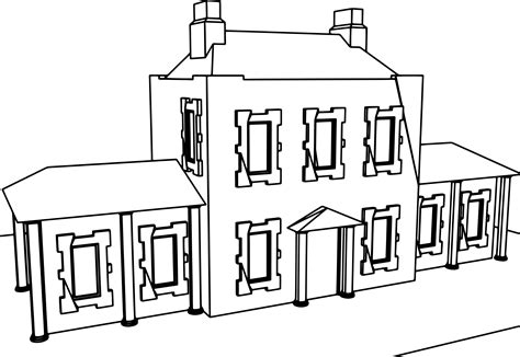 Mansion Coloring Pages