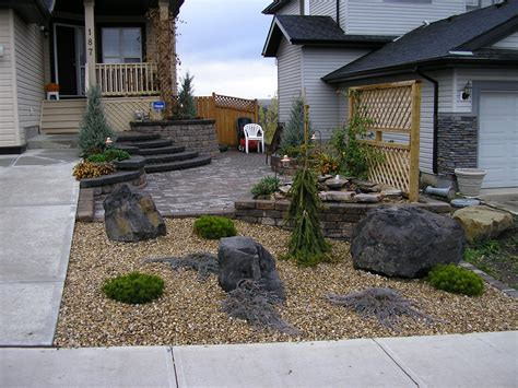 the various backyard design ideas as the inspiration of inspiring front yard landscaping ideas with stones