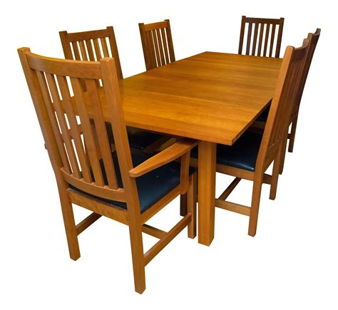 Shaker Dining Room Set Shaker Style Brazillian Cherry Wood Dining Set Chairish