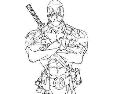 deadpool coloring pages selfcoloringpages com