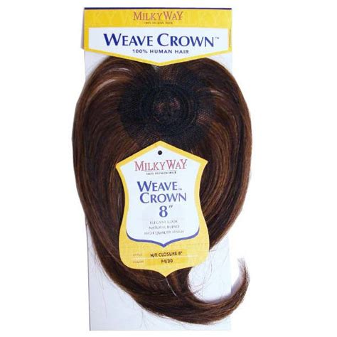crown for weaves closure 8 quot milkyway weave crown straight 100 human hair