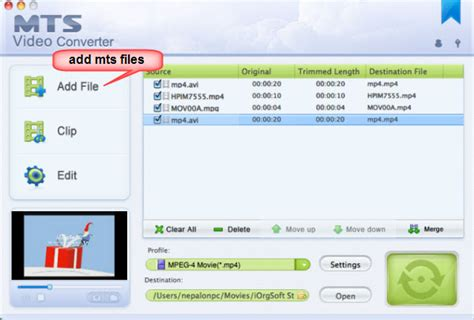 format video mts mts to imovie converter convert and import mts files to