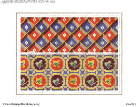 js pattern library apl vividly colored cross stitch charts borders