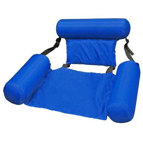 Floating Chair by Poolmaster Water Chair Lounger Float Pool Swim Inflate Raft Seat Hammock Free S Sports