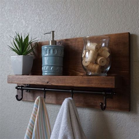 shelf with hooks for bathroom great bathroom shelf with towel hooks pictures inspiration
