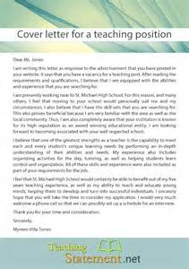 cover letter for a position writing a cover letter for a teaching position teaching