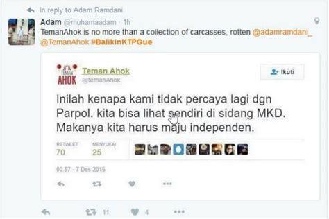 ahok tersangka trending topic twitter dihiasi tentang satu harapan balikinktpgue jadi trending topic di twitter