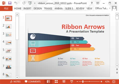 how to create power point template animated ribbon arrows infographic powerpoint template