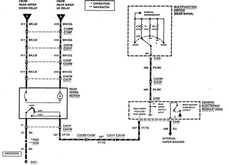 ford expedition rear wiper doesnt work fuse   check basics    wiring diagram