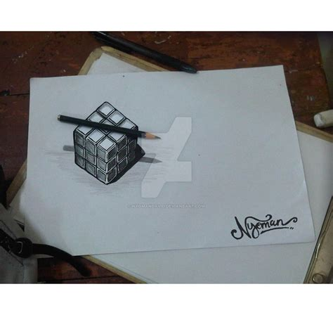 sketsa rubik 3d by nyomandavid on deviantart