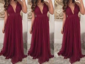 burgundy color prom dress burgundy prom dresses chiffon prom gown wine prom