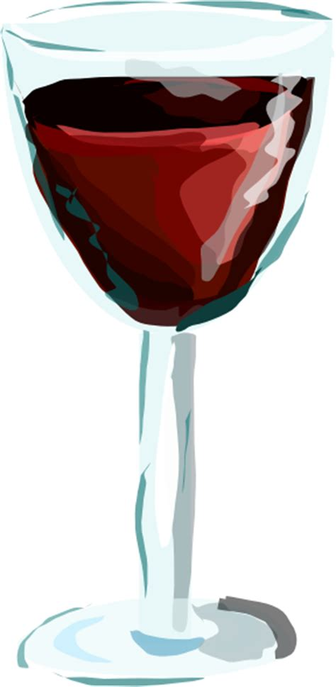cartoon wine glass red wine glass clip art at clker com vector clip art