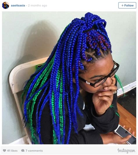 16 stunning photos of colored box braids the summer 16 stunning photos of colored box braids the summer