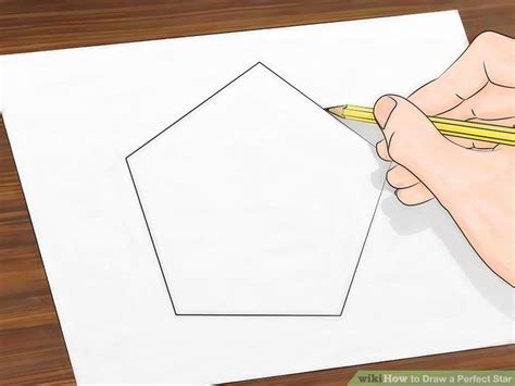 How To Make A Five Point Out Of Paper - how to draw a 13 steps with pictures wikihow