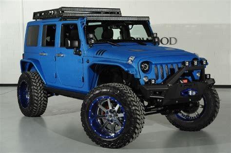 starwood jeep blue modified blue jeep wrangler by starwood customs