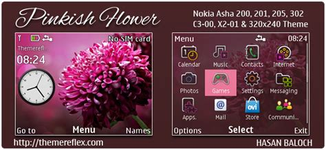 rasta themes for nokia asha 201 pinkish flower theme for nokia c3 00 x2 01 asha 200 201