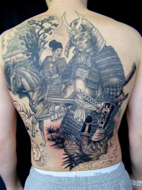 43 alluring japanese samurai tattoos for back
