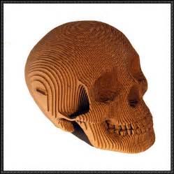 cardboard template new paper model a cardboard skull paper
