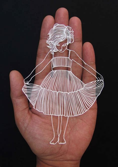 How To Make Paper Cut Designs - stunning paper cut from one sheet of paper fubiz media