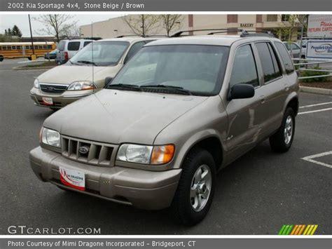 2002 Kia Sportage 4x4 Beige 2002 Kia Sportage 4x4 Brown Interior