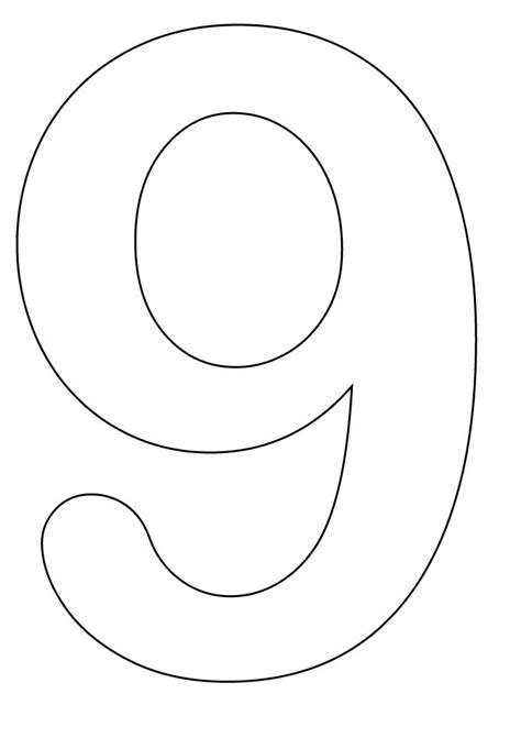 number 9 cake template number 9 coloring pages only coloring pages