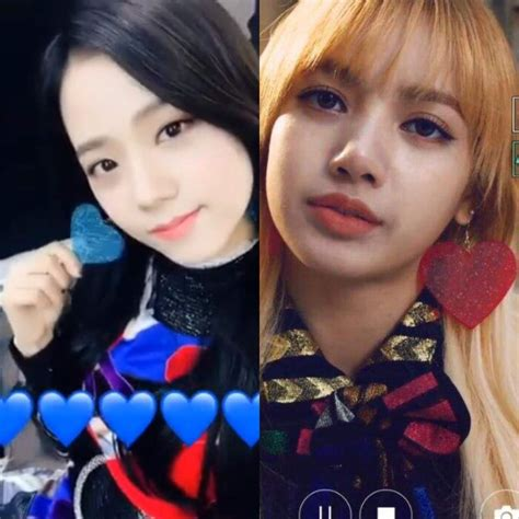 blackpink position lisa and jisoo wearing the same earrings blink 블링크 amino