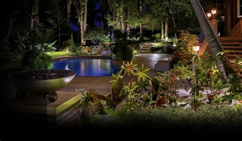 Outside Landscape Lights Lighthouse 174 Landscape Lighting Design Installation Service