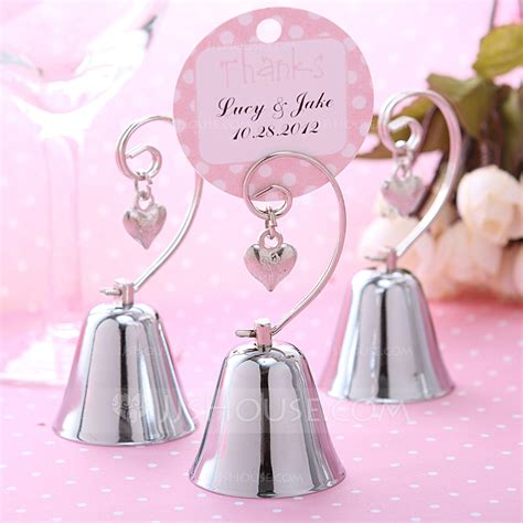 Wedding Bell Place Card Holders by Wedding Bell Style Stainless Steel Place Card Holders