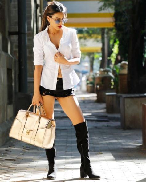 Hq 16512 Black White Set Top Shorts these pics from tv nia sharma s sizzling photo shoot will set your screen